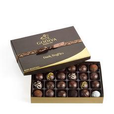 godiva, dark chocolate, truffles, dani ripper
